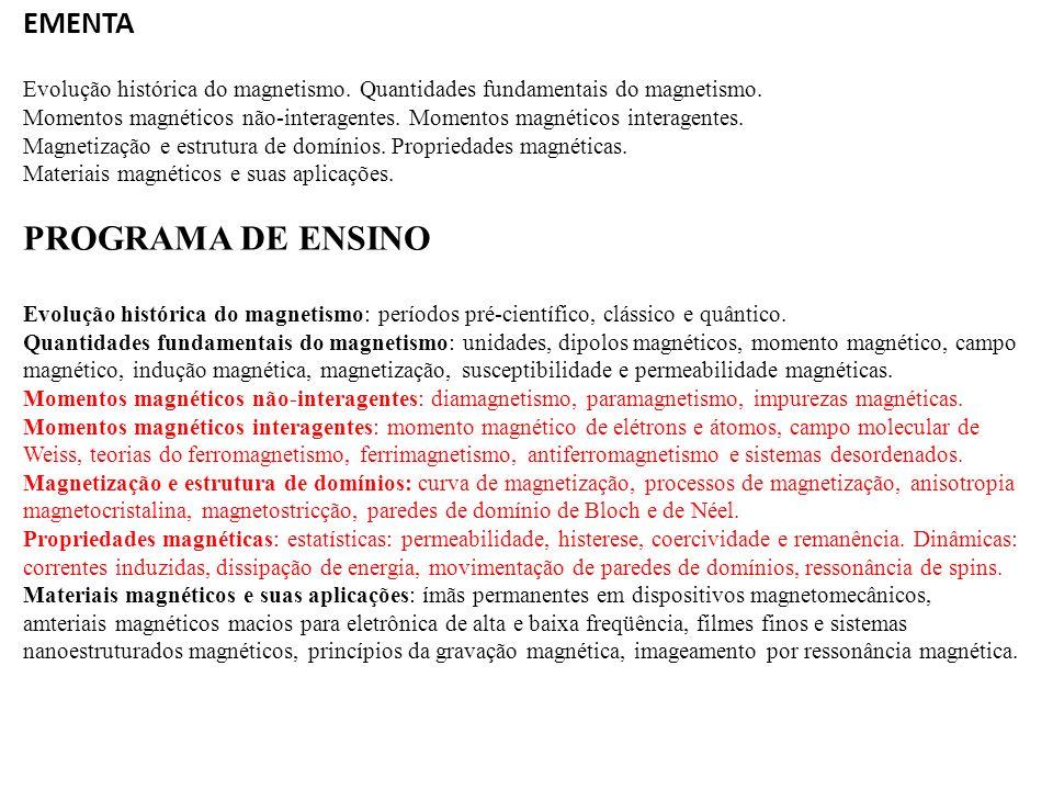 PROGRAMA DE ENSINO EMENTA