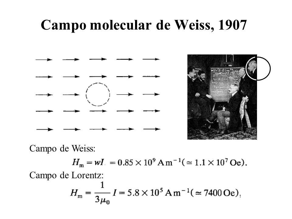 Campo molecular de Weiss, 1907
