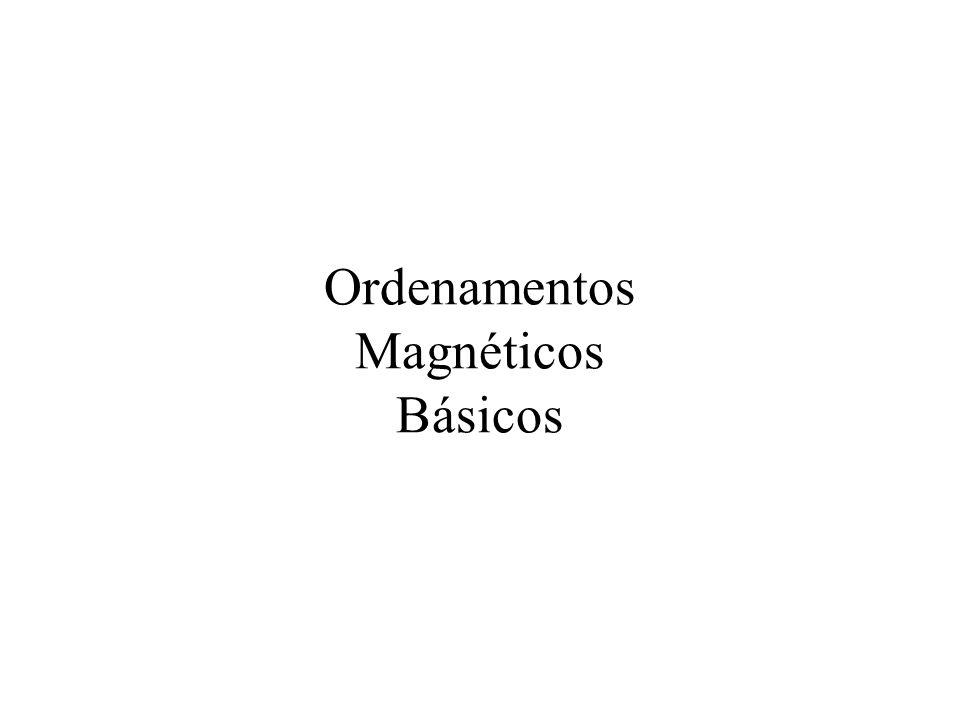 Ordenamentos Magnéticos Básicos