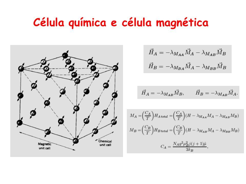 Célula química e célula magnética