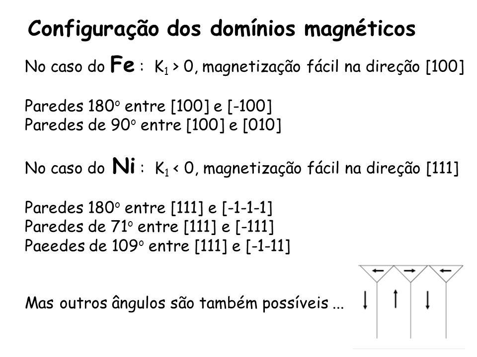 Configuração dos domínios magnéticos