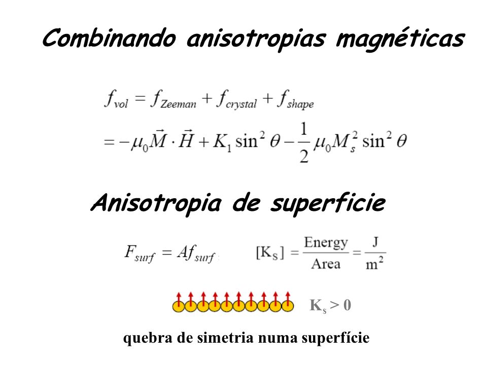 Combinando anisotropias magnéticas