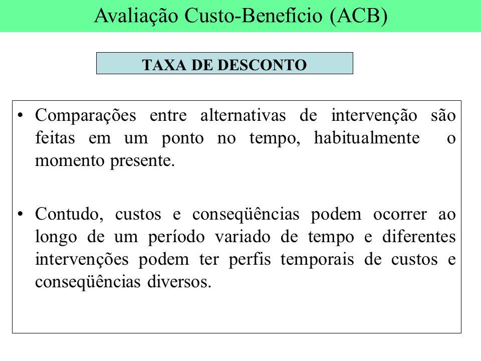 Avaliação Custo-Benefício (ACB)
