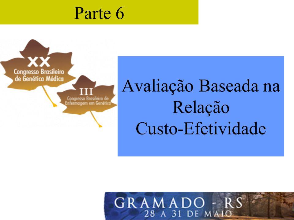 Avaliação Baseada na Relação Custo-Efetividade