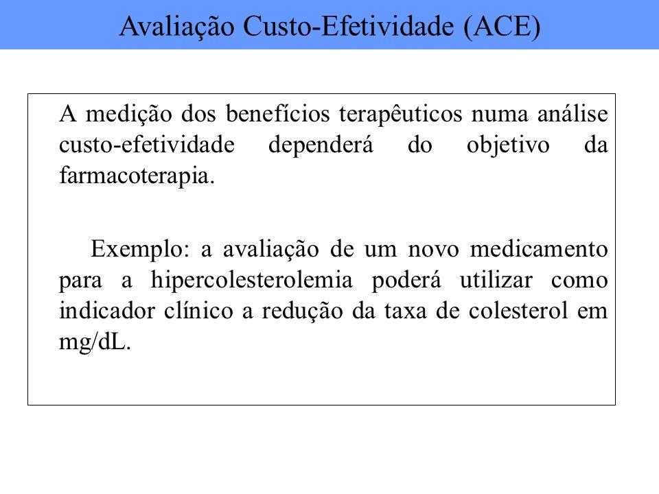 Avaliação Custo-Efetividade (ACE)