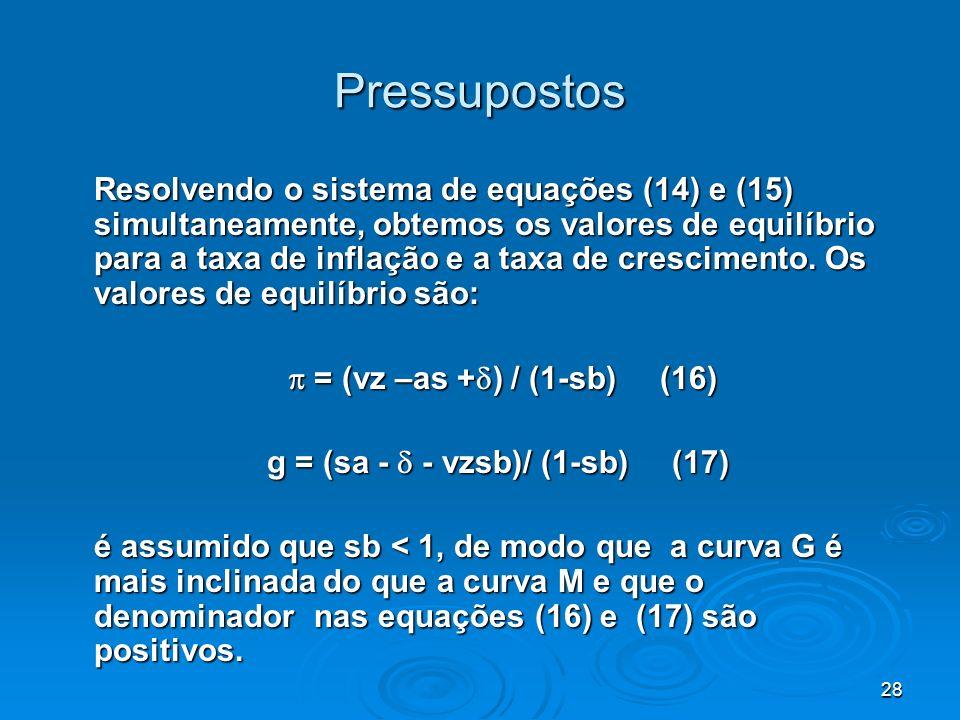 g = (sa -  - vzsb)/ (1-sb) (17)