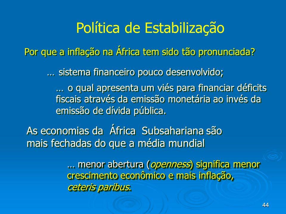 Política de Estabilização