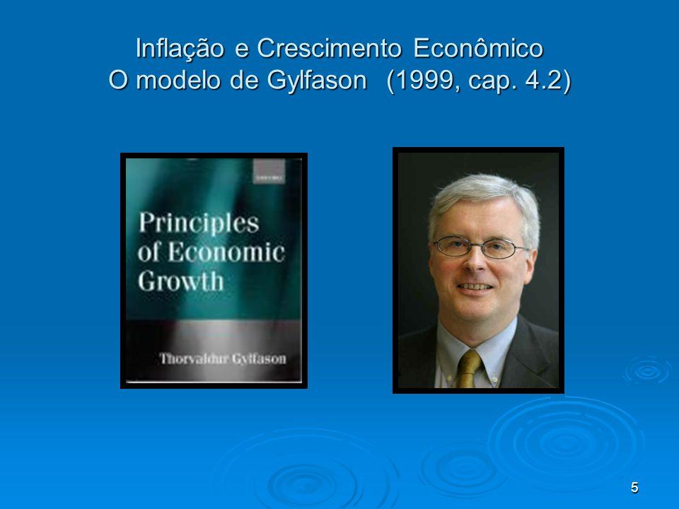 Inflação e Crescimento Econômico O modelo de Gylfason (1999, cap. 4.2)