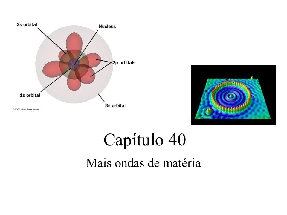 Capítulo 40 Mais ondas de matéria