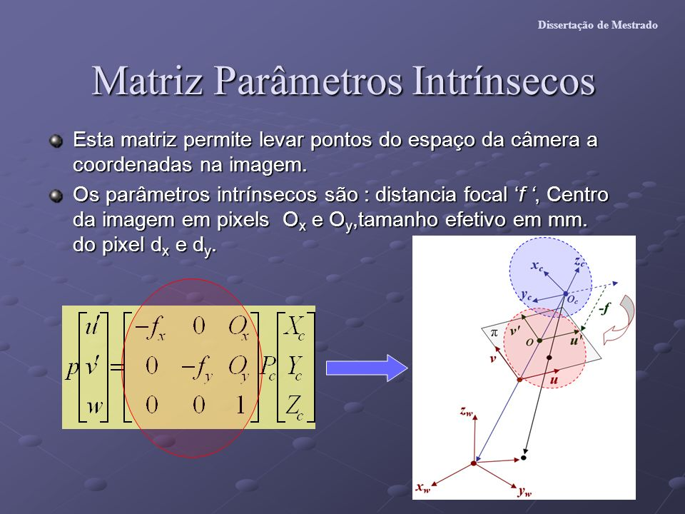 Matriz Parâmetros Intrínsecos