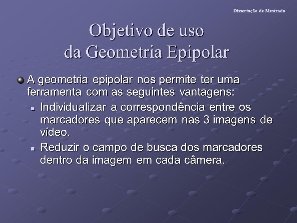 Objetivo de uso da Geometria Epipolar