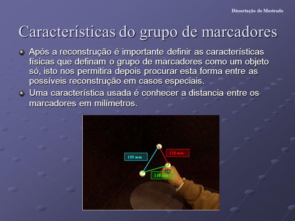 Características do grupo de marcadores