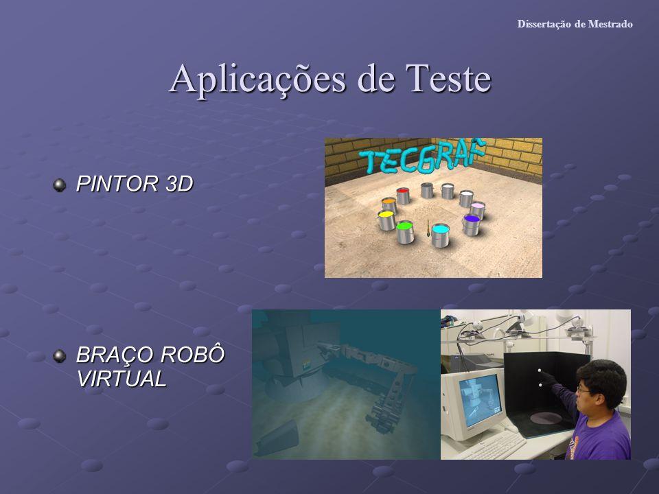 Aplicações de Teste PINTOR 3D BRAÇO ROBÔ VIRTUAL