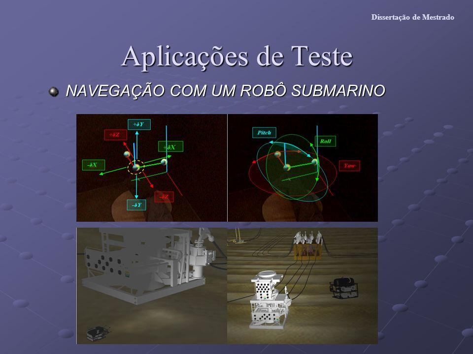 Aplicações de Teste NAVEGAÇÃO COM UM ROBÔ SUBMARINO