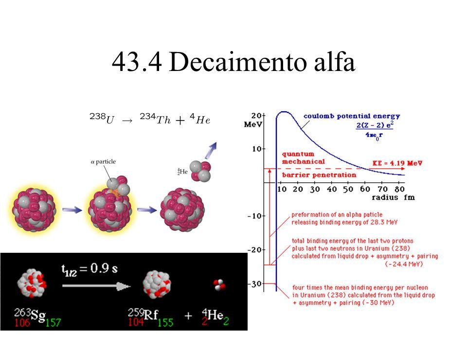 43.4 Decaimento alfa
