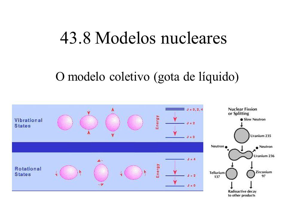43.8 Modelos nucleares O modelo coletivo (gota de líquido)