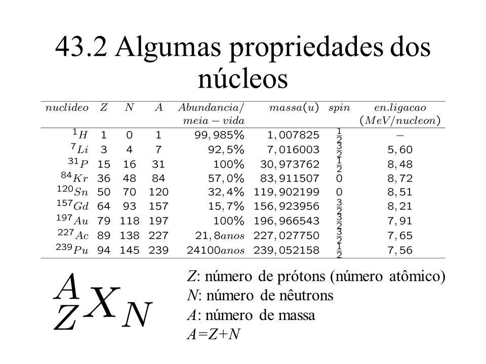 43.2 Algumas propriedades dos núcleos