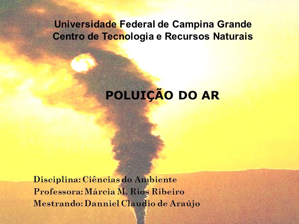 POLUIÇÃO DO AR Universidade Federal de Campina Grande