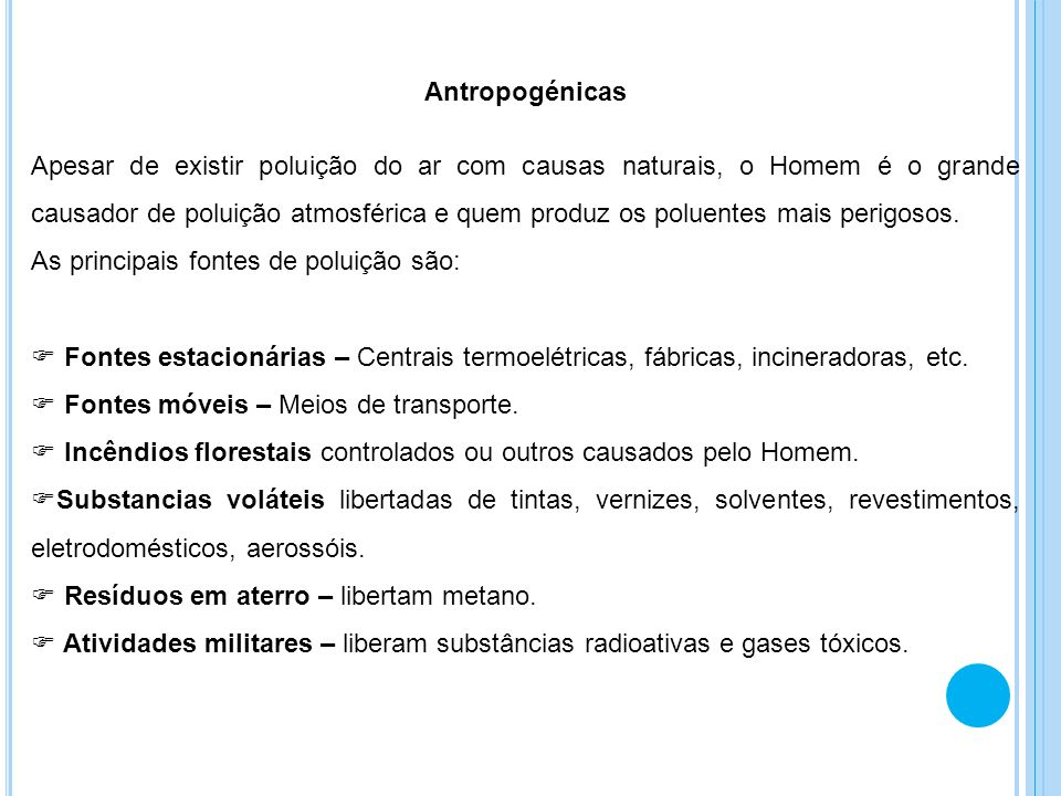 Antropogénicas