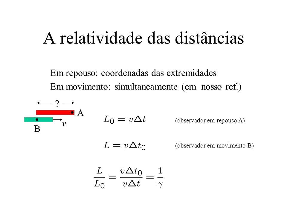 A relatividade das distâncias