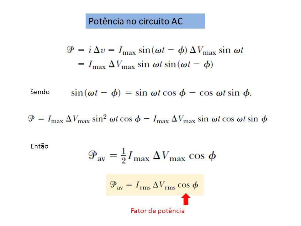 Potência no circuito AC