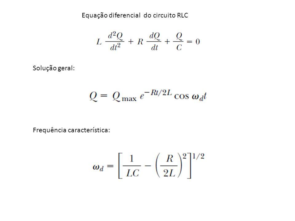 Equação diferencial do circuito RLC