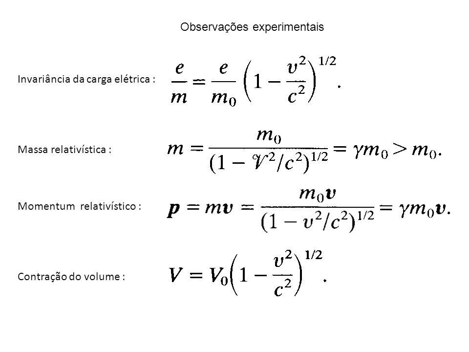 Observações experimentais