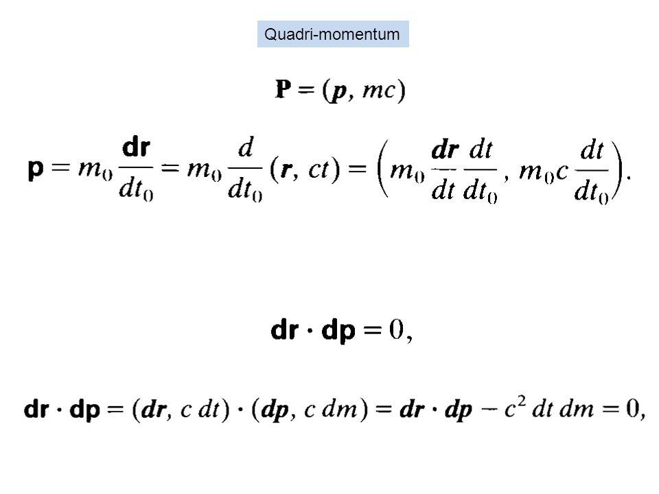 Quadri-momentum