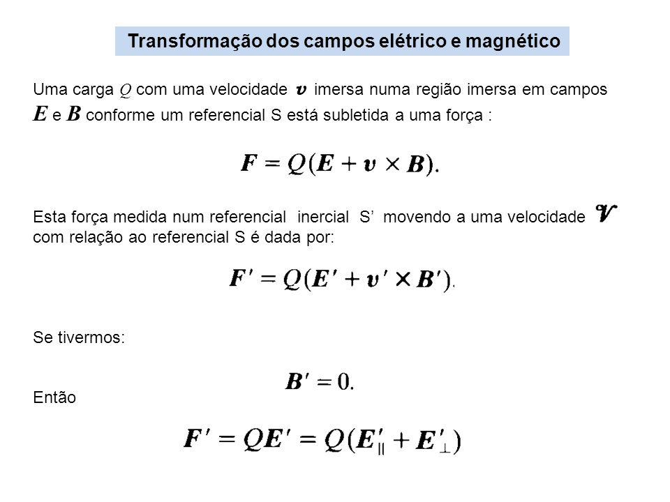 E e B conforme um referencial S está subletida a uma força :