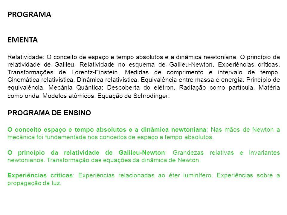 PROGRAMA EMENTA PROGRAMA DE ENSINO