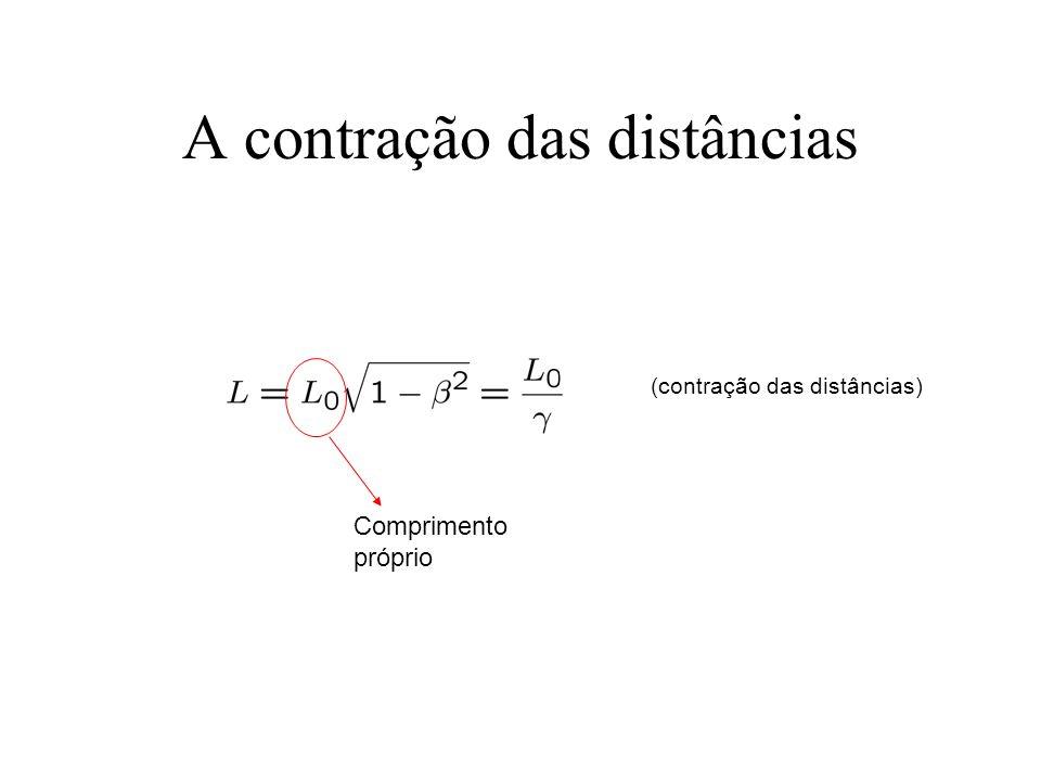 A contração das distâncias