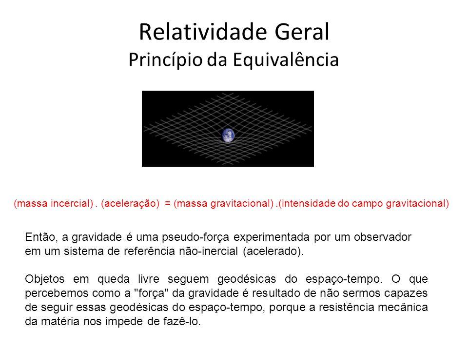 Relatividade Geral Princípio da Equivalência