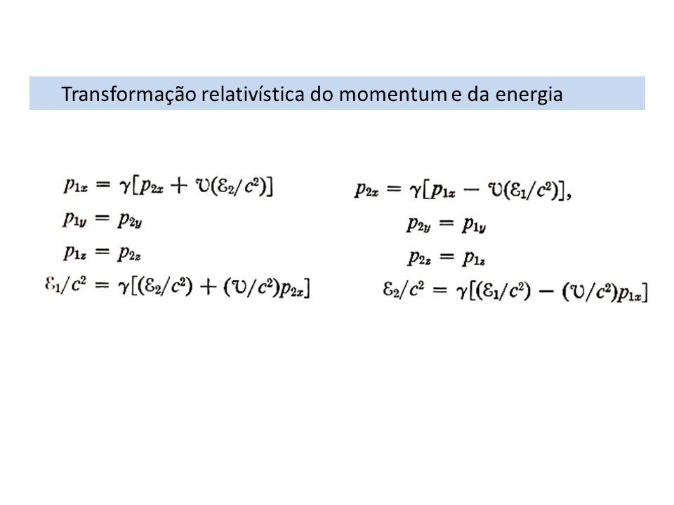 Transformação relativística do momentum e da energia