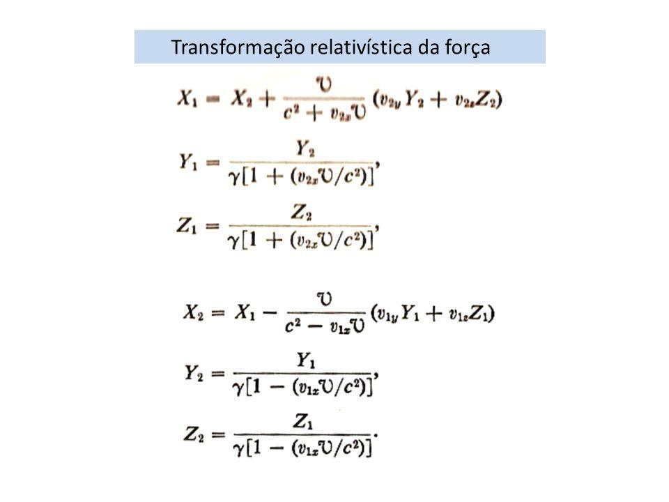Transformação relativística da força