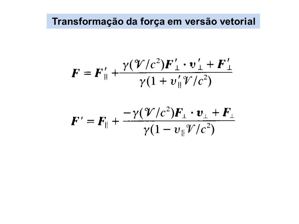 Transformação da força em versão vetorial
