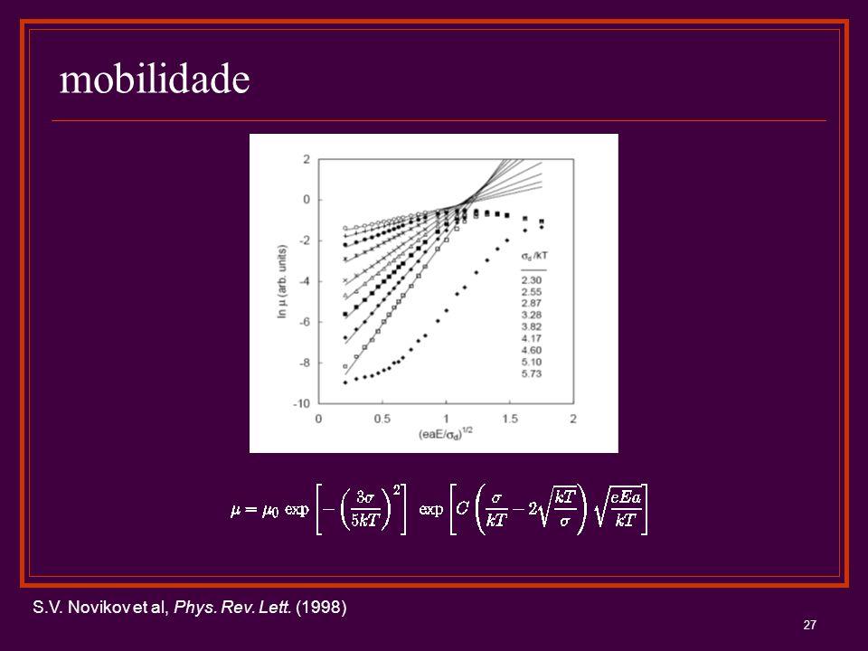 mobilidade S.V. Novikov et al, Phys. Rev. Lett. (1998)