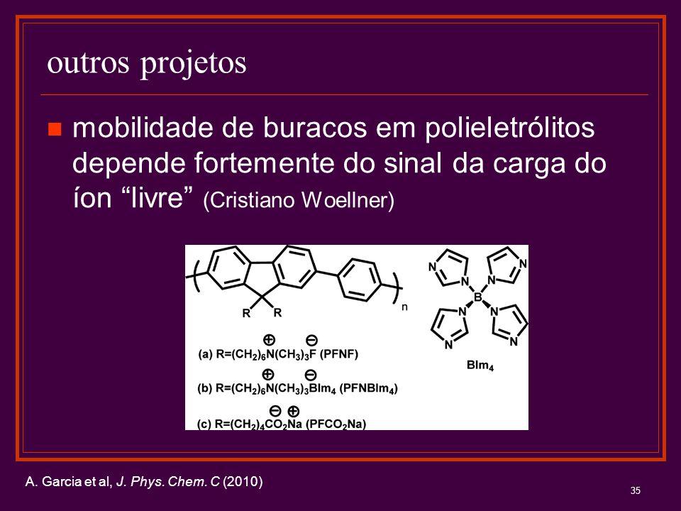 outros projetos mobilidade de buracos em polieletrólitos depende fortemente do sinal da carga do íon livre (Cristiano Woellner)