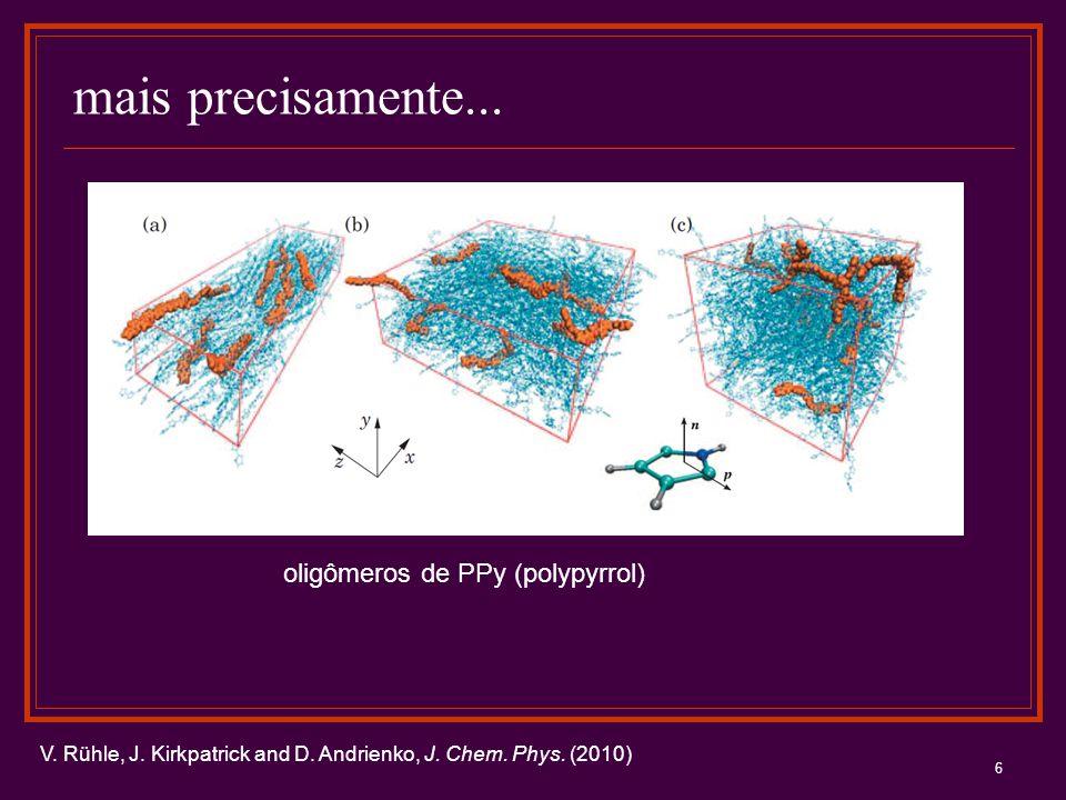 mais precisamente... oligômeros de PPy (polypyrrol)