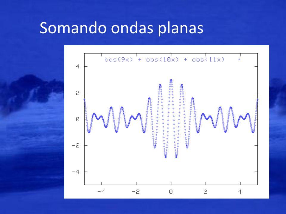 Somando ondas planas