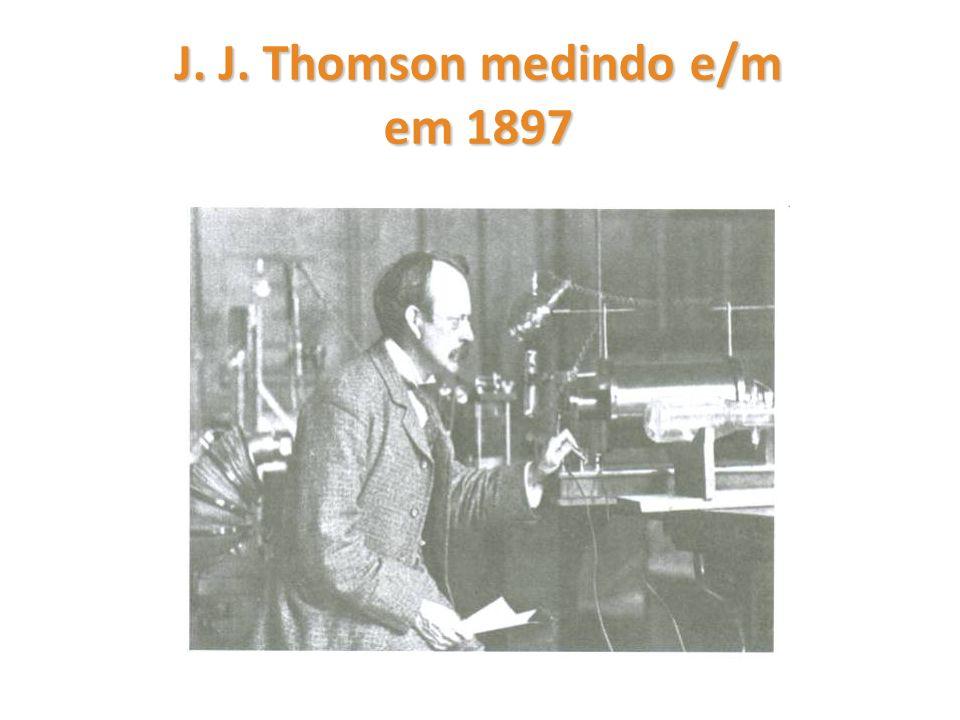 J. J. Thomson medindo e/m em 1897