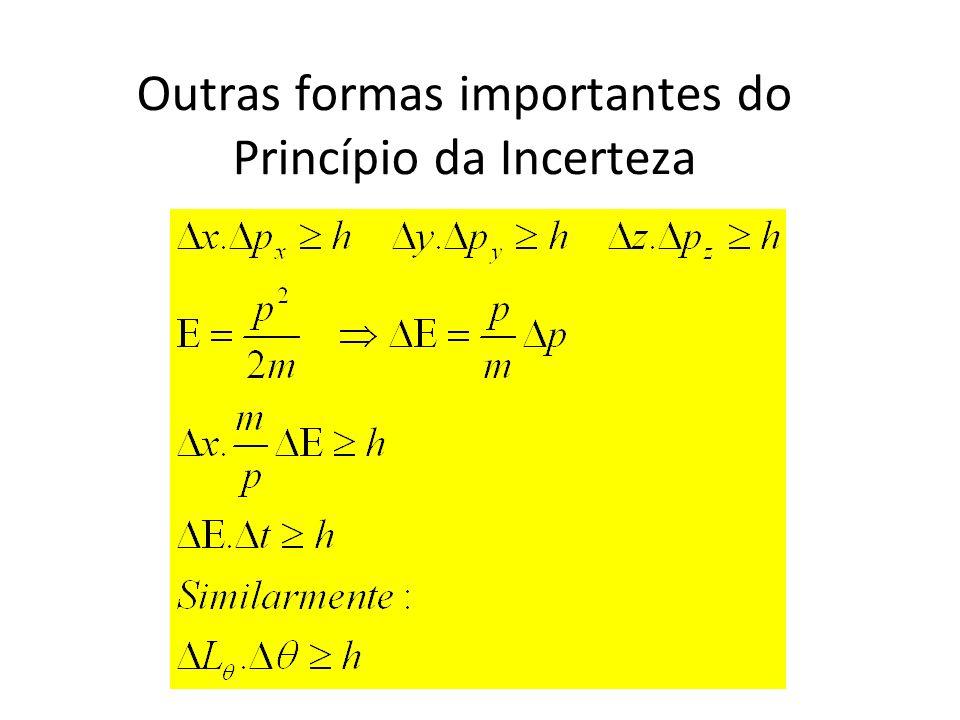 Outras formas importantes do Princípio da Incerteza