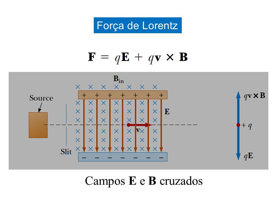 Força de Lorentz Campos E e B cruzados