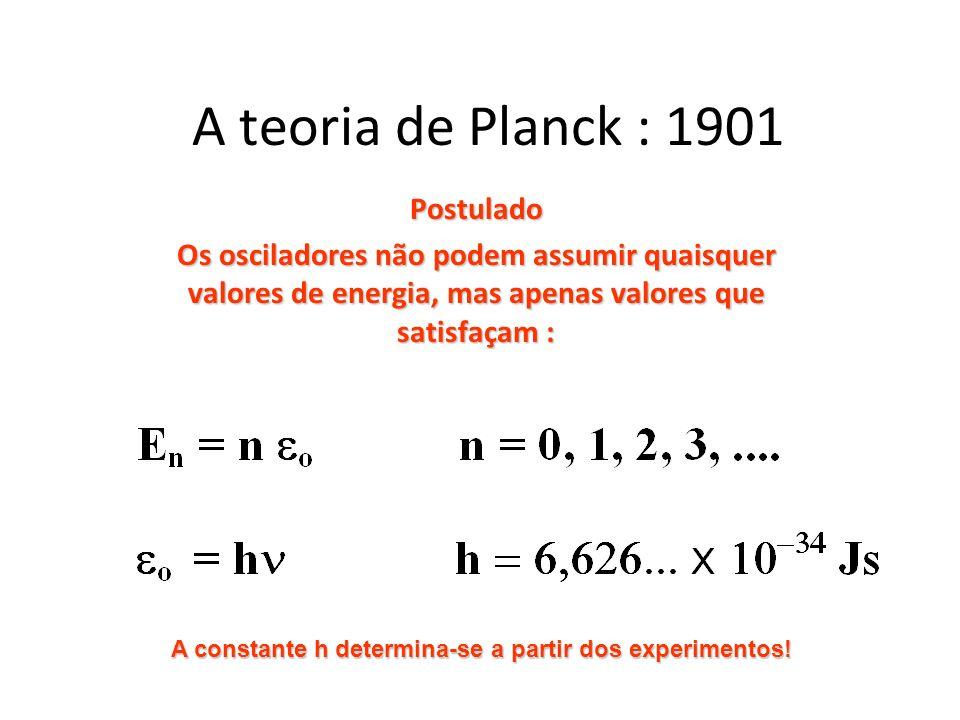 A teoria de Planck : 1901 Postulado