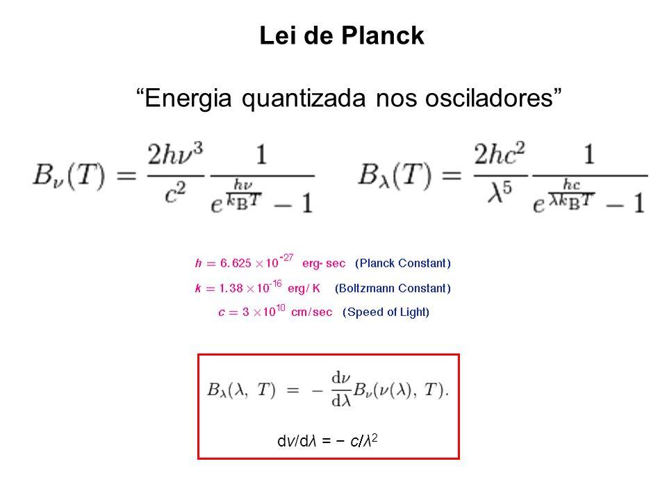 Energia quantizada nos osciladores