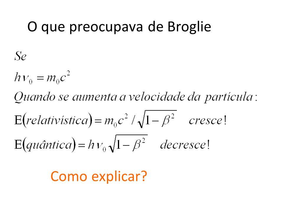 O que preocupava de Broglie