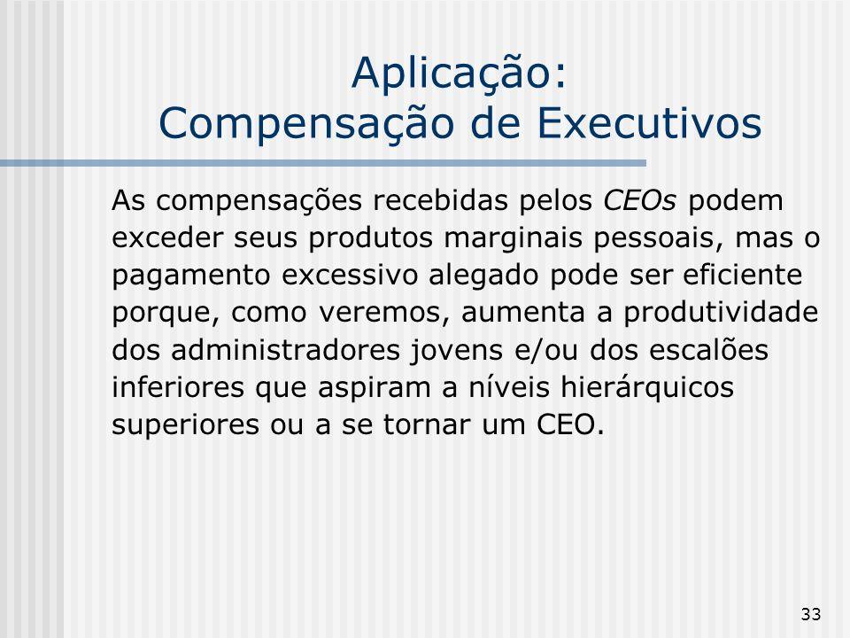 Aplicação: Compensação de Executivos