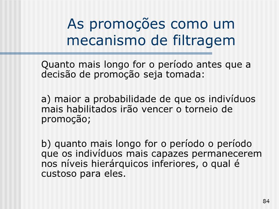 As promoções como um mecanismo de filtragem