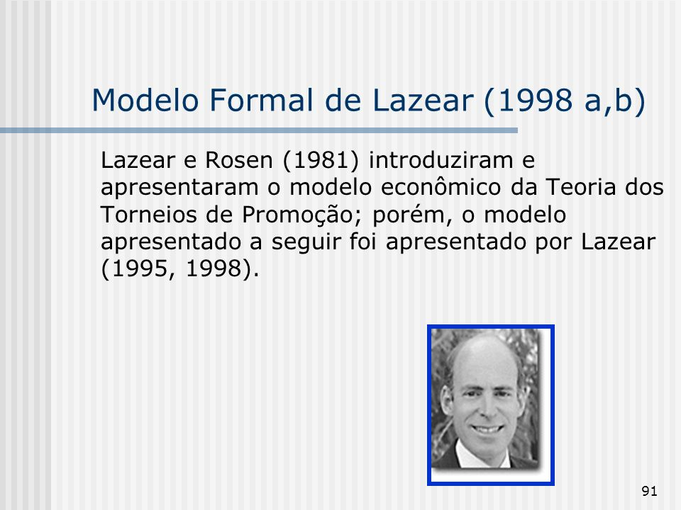 Modelo Formal de Lazear (1998 a,b)