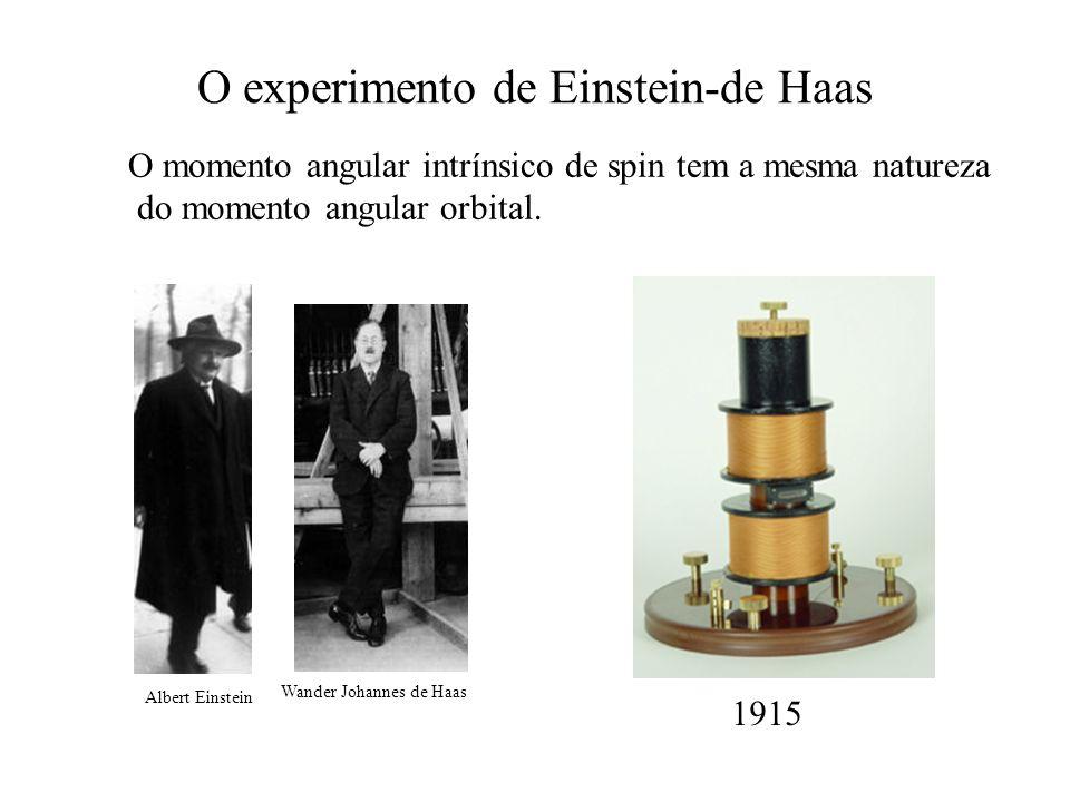 O experimento de Einstein-de Haas