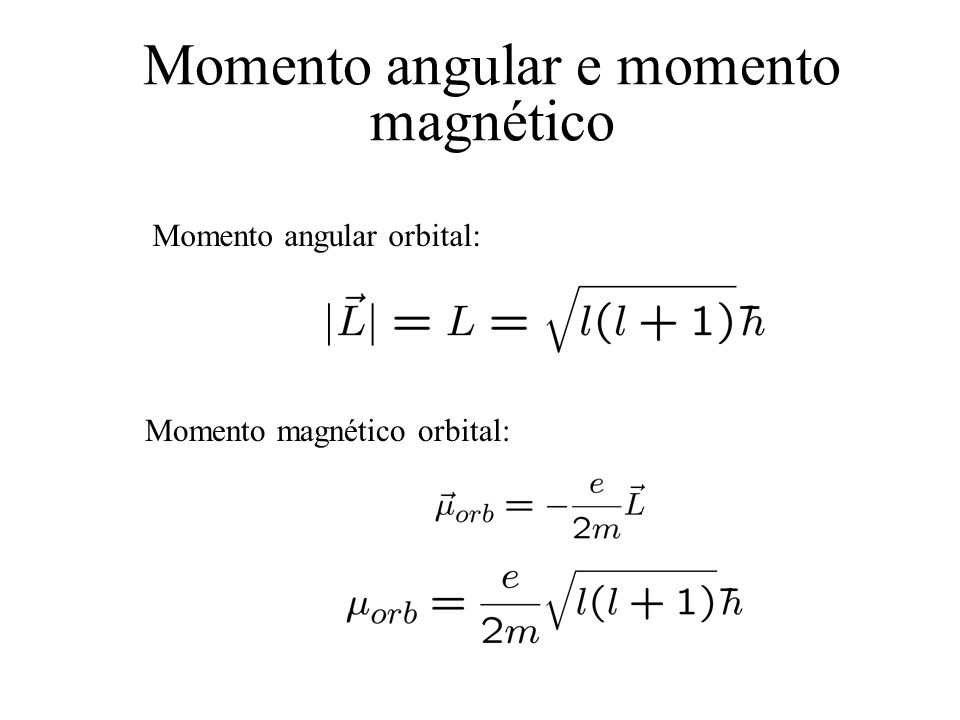 Momento angular e momento magnético